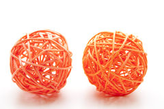 Straw sphere twisted Royalty Free Stock Photo
