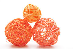 Straw sphere twisted Stock Image
