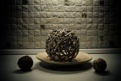 Straw spheres in kitchen still-life Stock Photo