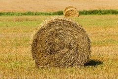Straw stack Royalty Free Stock Photos