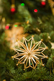 Straw star Royalty Free Stock Photography