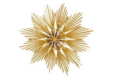 Straw star. Isolated straw star as Christmas decoration Stock Photos
