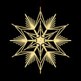 Straw Star Black Background Royalty Free Stock Images