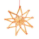Straw star christmas decoration Stock Photo
