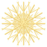 Straw Star Christmas Tree Ornament Stock Image