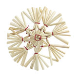 Straw star with clipping path Royalty Free Stock Photography