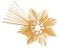 Straw star on white Stock Images