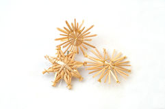 Straw stars. As a christmas tree decoration Royalty Free Stock Photo
