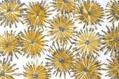 Straw stars background Royalty Free Stock Photography