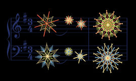 Free Straw Stars Christmas Song Silent Night Royalty Free Stock Photo - 77560235
