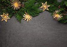 Straw stars Stock Image