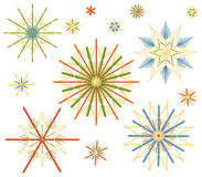Straw Stars Colors Set Royalty Free Stock Image