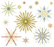 Straw Stars Colors Set Royalty Free Stock Image