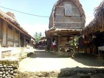 Straw storage house. Rice sade village lombok ntb indonesia Stock Image