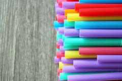 Straw straws plastic drinking background colourful  full screen single use pollution. Straw straws plastic drinking background colourful full screen single use Royalty Free Stock Photos