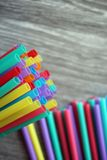 Straw straws plastic drinking background colourful  full screen single use pollution. Straw straws plastic drinking background colourful full screen single use Stock Photo