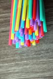 Straw straws plastic drinking background colourful  full screen single use pollution. Copy space Royalty Free Stock Photography