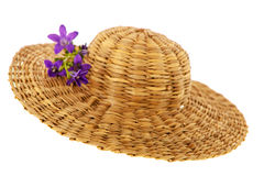 Straw summer hat Royalty Free Stock Image