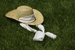 Straw Sun Hat Stock Images