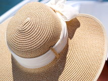 Straw Sun Hat. Sun Hat photo taken on cruise in florida Royalty Free Stock Images