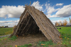 Straw Tent Royalty Free Stock Photography