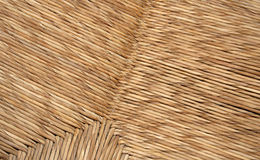 Straw texture. From a chair Royalty Free Stock Image