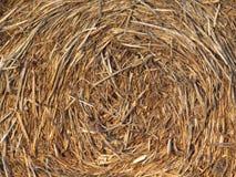 Straw Texture Background turbinato fotografia stock libera da diritti