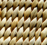 Straw texture. The texture from beige straw bag Royalty Free Stock Images