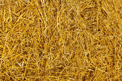 Straw texture. Close up view on straw of wheat stock photography