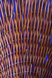 Straw texture over blue background Royalty Free Stock Image