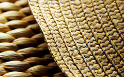 Straw texture. The textures from straw bag and hat Stock Photo