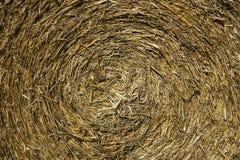 Straw texture. Yellow round texture of straw royalty free stock photo