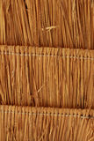 Straw thatched roof backgroung Stock Photography