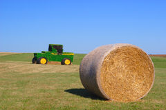 Straw Tractor Stock Photo