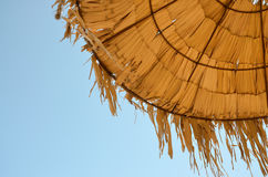 Straw umbrella details Royalty Free Stock Photo