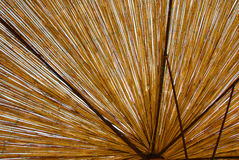 Straw umbrella texture Stock Photo