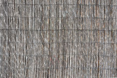 Straw wall background texture. Rustic wall made of weathered straw. Mallorca, Balearic islands, Spain in July royalty free stock photo