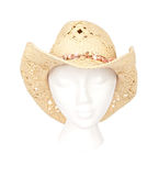 Straw Western Hat With Clipping Path Stock Photos