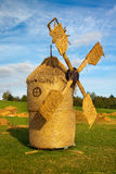 Straw wind mill Stock Images