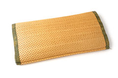 Straw woven pillow Stock Images