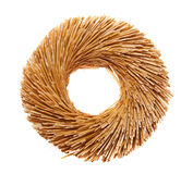 Straw wreath Stock Images