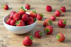 Bowl of Strawbarries stock photo