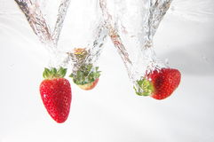 Strawbarry fruit in water Stock Photo