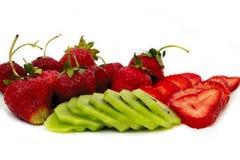Strawbberries e quivi Fotografia de Stock