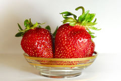 Strawbberries e quivi Fotos de Stock Royalty Free