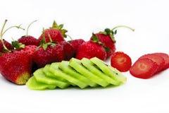 Strawbberries et kiwi Images libres de droits