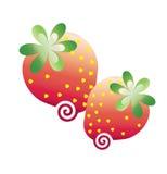 Strawbberries grafik Arkivfoton