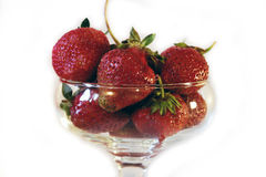 Strawbberries and kiwi. Beautiful and sweet fruit. Strawberries Royalty Free Stock Photography
