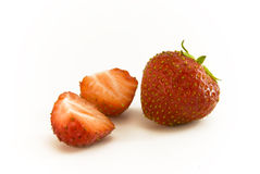 Strawbeery et moitiés Photo stock