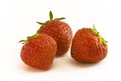 Strawbeery Fruit group. Lying on white background Royalty Free Stock Photos